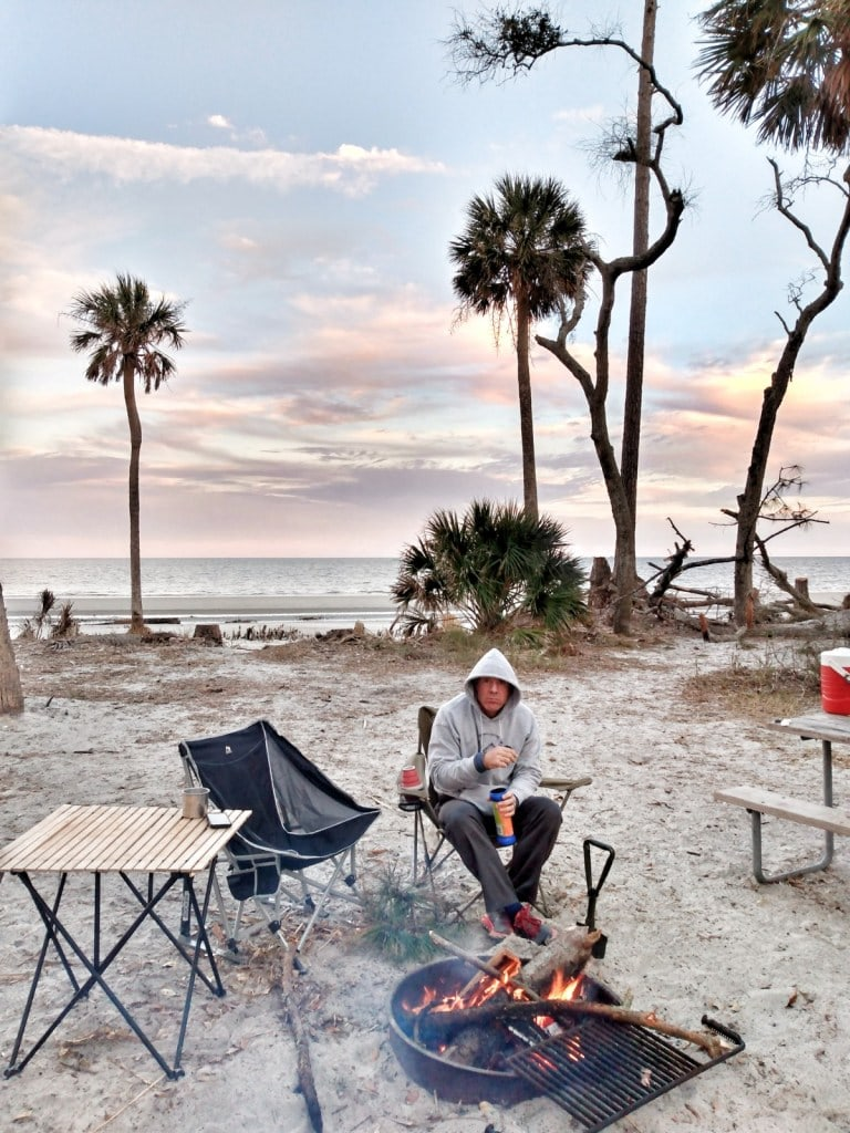 Hunting Island State Park Campsite