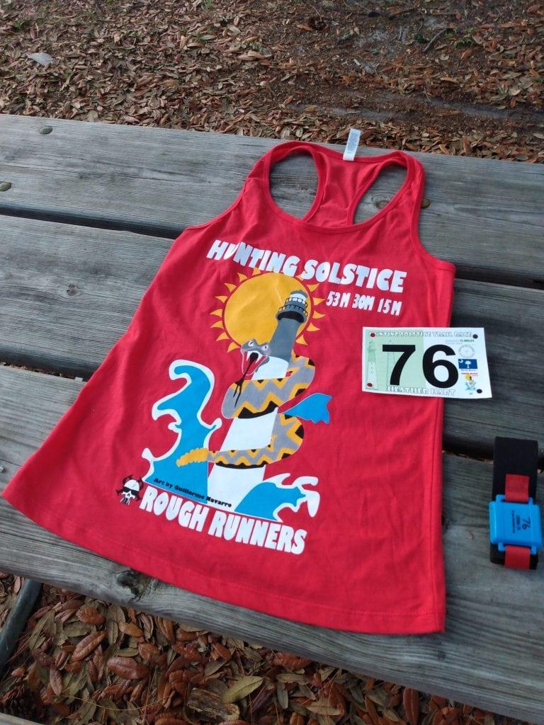 Hunting Solstice Ultra race shirt and bib