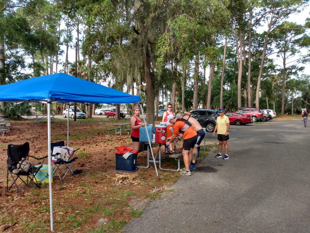 Hunting Solstice Ultra aid station table