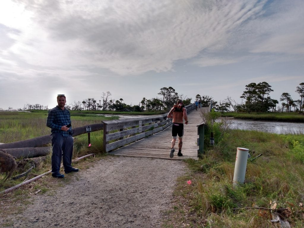 Hunting Solstice Ultra race course bridge over swash